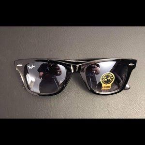 Tinted RayBan sunglasses